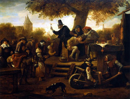 Jan Havicksz Steen - Cutting the Stone or The Extraction of the Stone of Madness