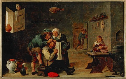 David Teniers, the Younger - Surgical operation on a man's head (fool's stone)